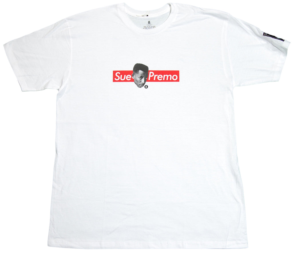 <!--2011121331-->EightArms & BlackMist (DJ Premier of Gang Starr) - 'Sue Premo' [(White) T-Shirt]