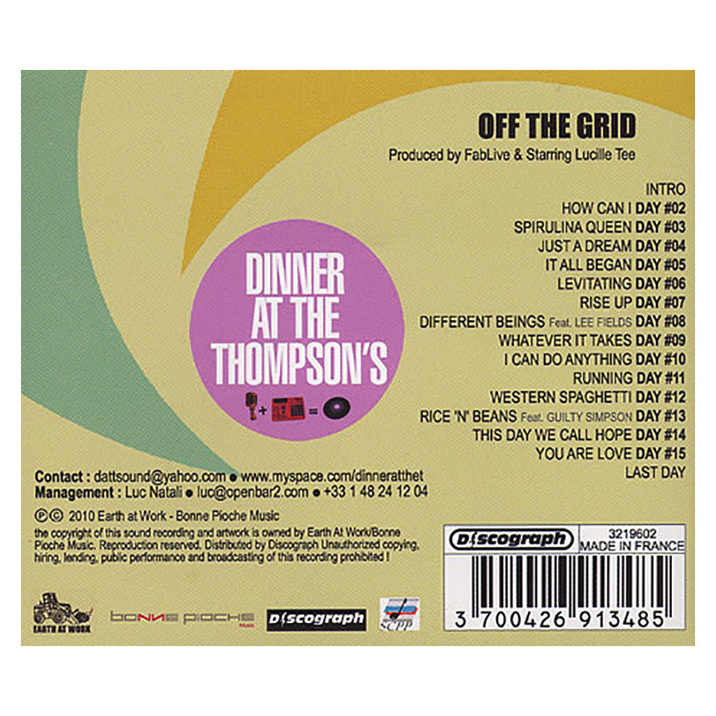 <!--020110517028683-->Dinner At The Thompson's - 'Off The Grid' [CD]
