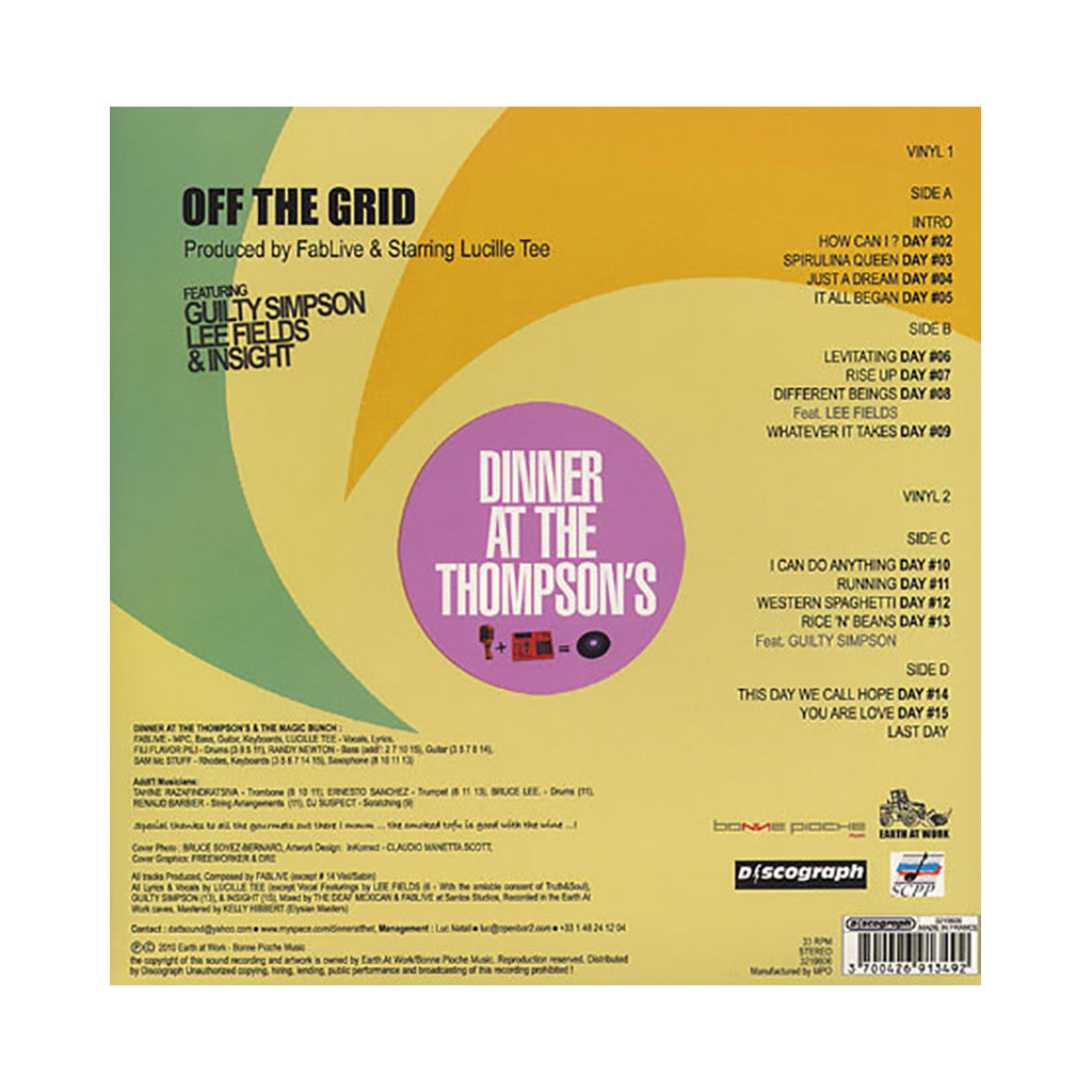 <!--020110517028682-->Dinner At The Thompson's - 'Off The Grid' [(Black) Vinyl [2LP]]