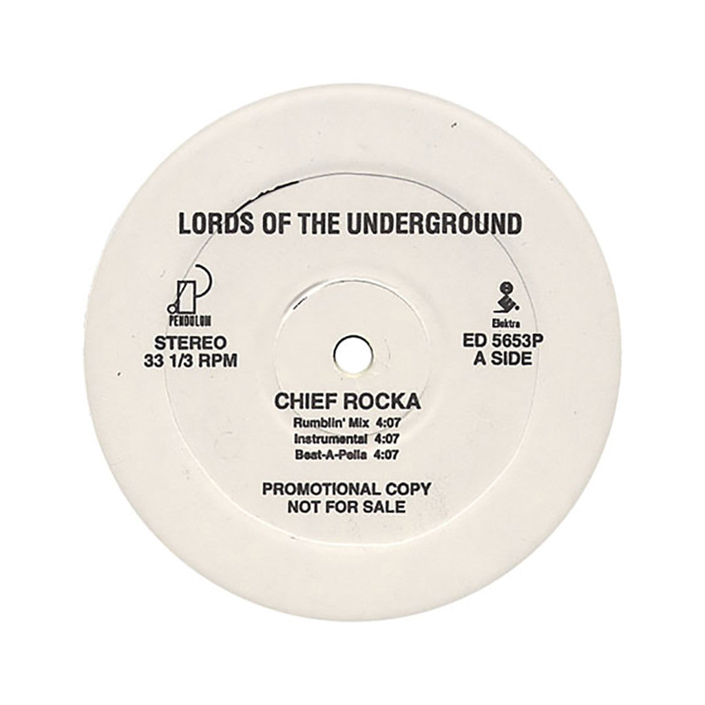 "<!--019000101011958-->Lords Of The Underground - 'Chief Rocka/ Chief Rocka (Remix)' [(Black) 12"" Vinyl Single]"
