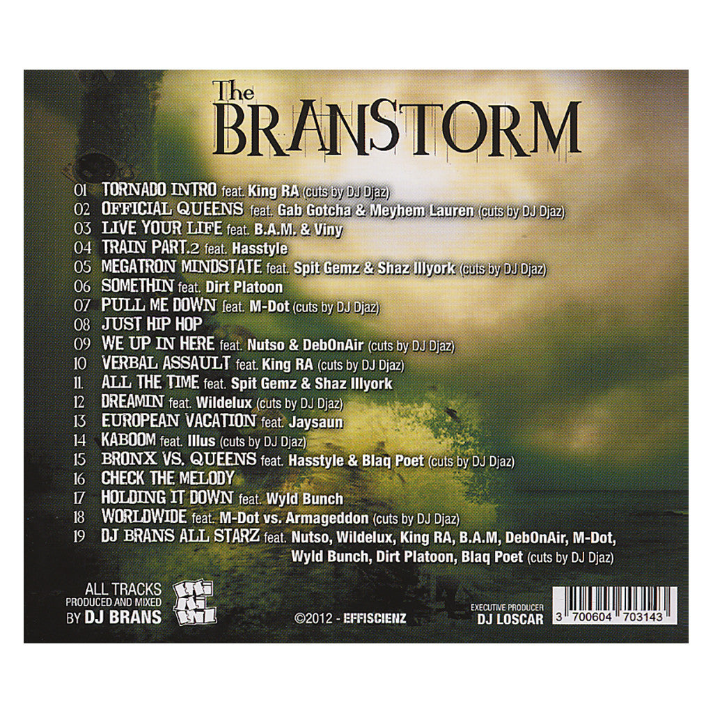 DJ Brans - 'The Branstorm' [CD]
