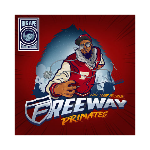 "Freeway & Big Ape - 'Primates/ Bomdroppaz' [(Cobalt Blue) 7"" Vinyl Single]"