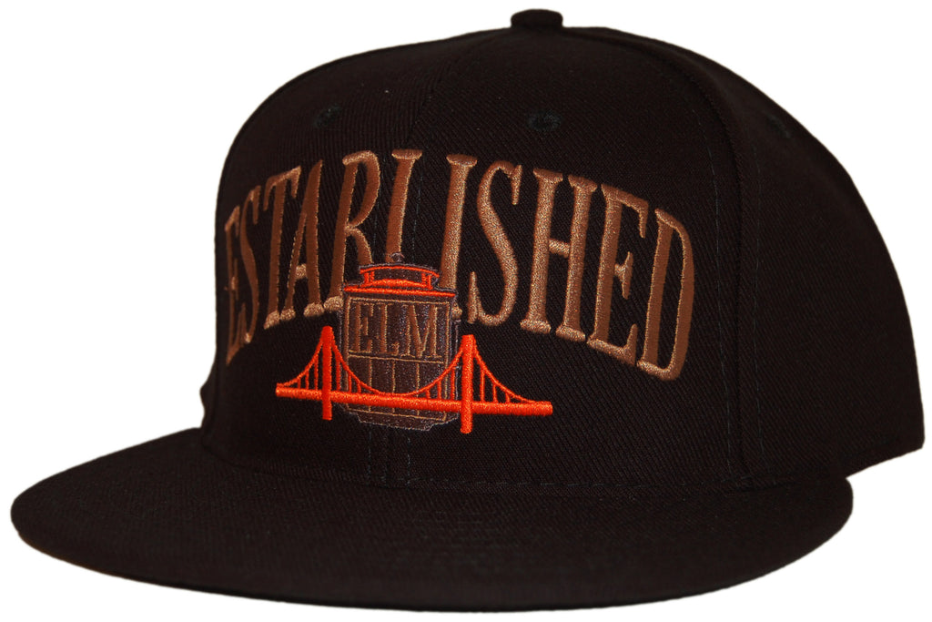 <!--020110712032796-->Elm: City Series (San Francisco) - 'Established' [(Black) Snap Back Hat]