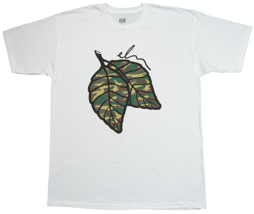 <!--2012101607-->Elm - 'Drop Leaf - Camo' [(White) T-Shirt]