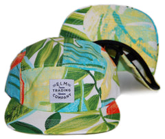 <!--020131022060686-->Elm - 'Vacay' [(White) Five Panel Camper Hat]