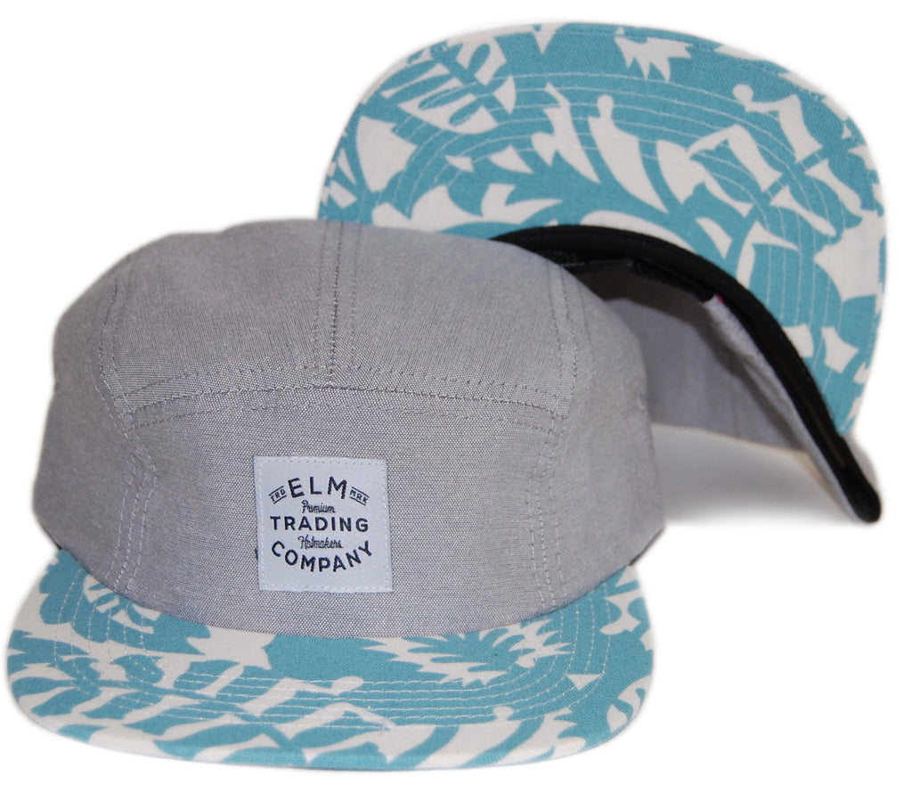 <!--020131022060687-->Elm - 'Trade Floral' [(Light Gray) Five Panel Camper Hat]