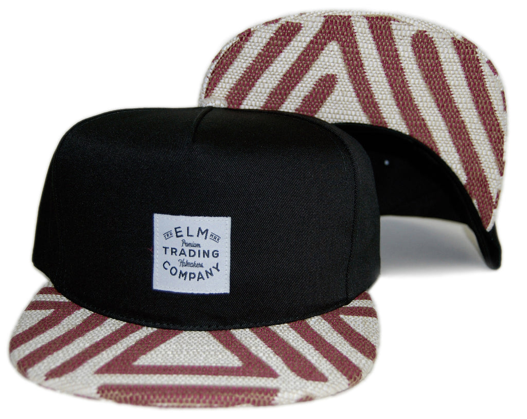 <!--020131022060685-->Elm - 'Hiero' [(Black) Snap Back Hat]