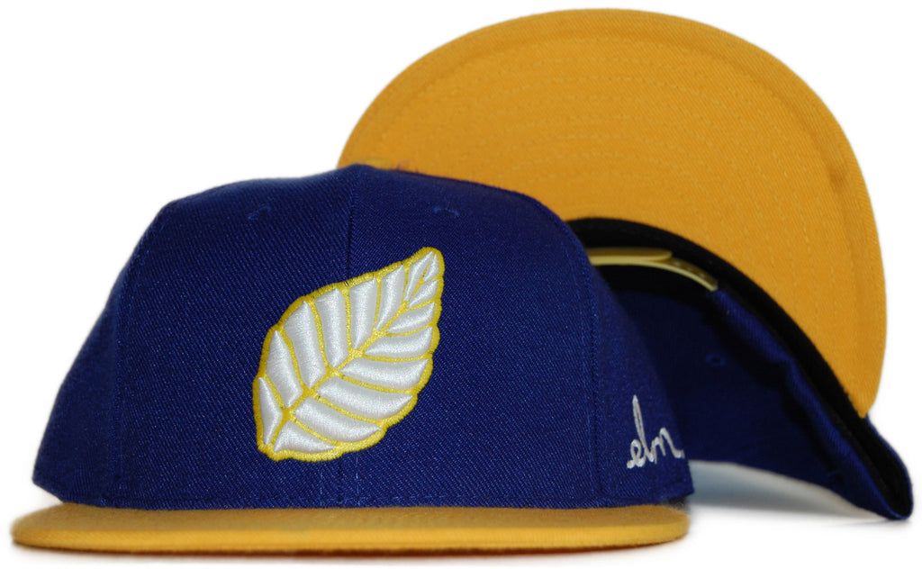 <!--020111213039440-->Elm: City Series (Oakland) - 'Leaf - Golden State Warriors' [(Blue) Snap Back Hat]