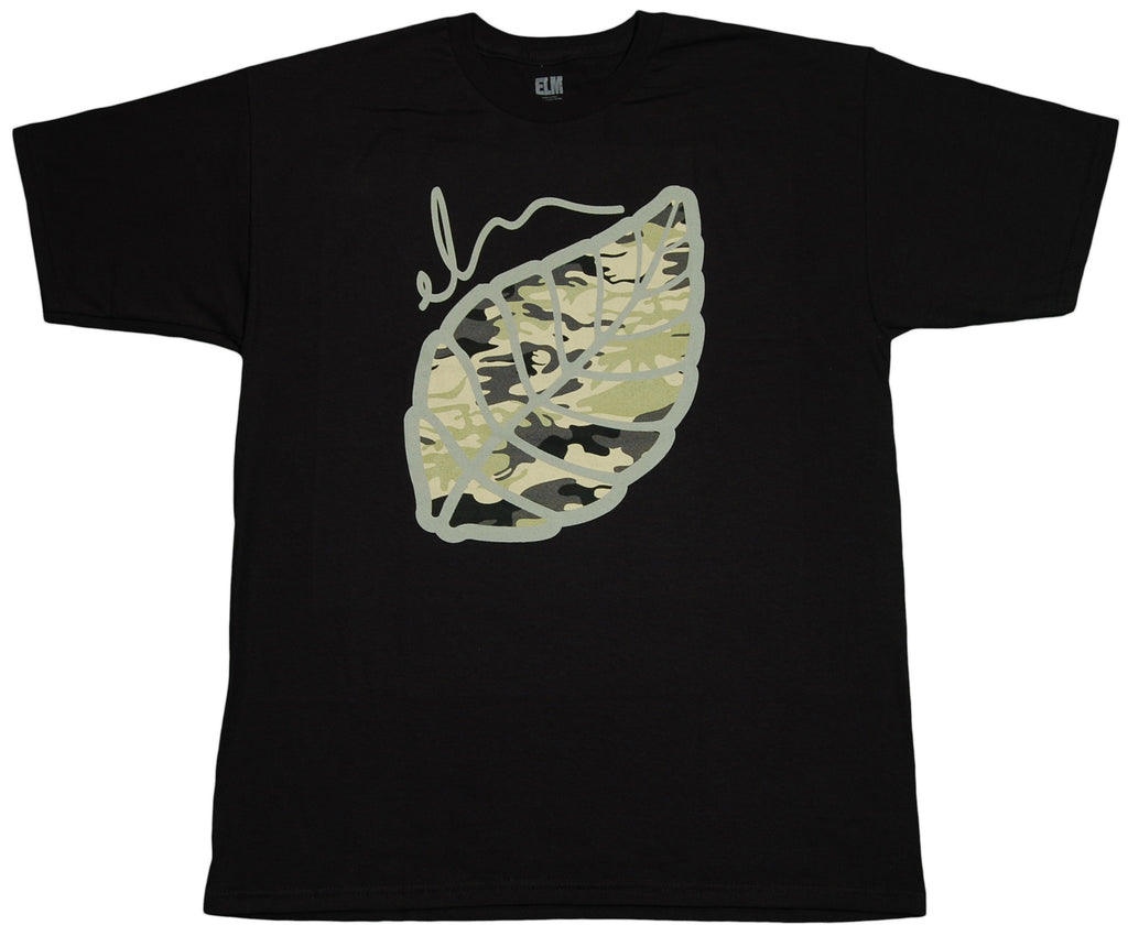 <!--2012030645-->Elm - 'Camo Leaf' [(Black) T-Shirt]
