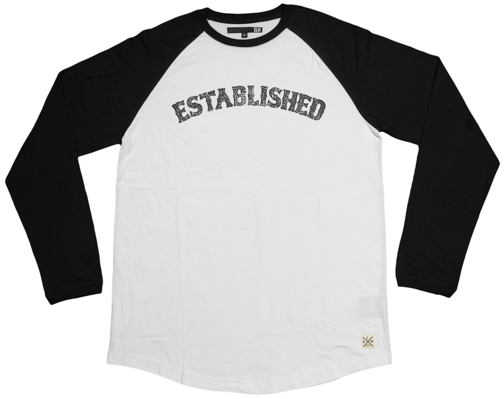 <!--2013031219-->Elm - 'Established Raglan' [(White) Long Sleeve Shirt]