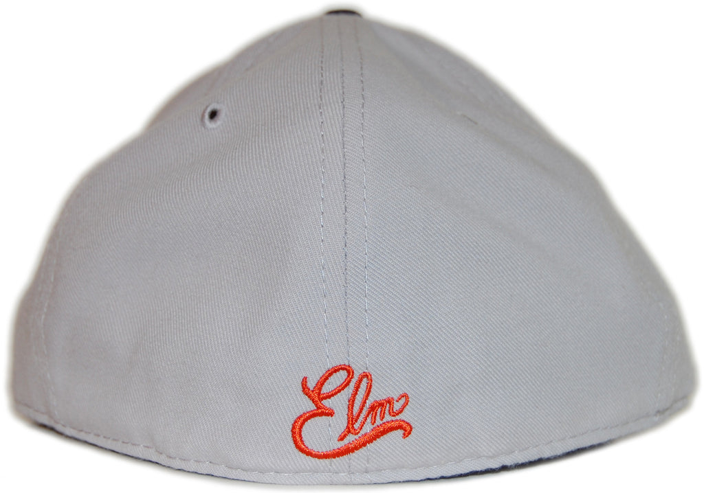 <!--2012050125-->Elm - 'Homerun - Orange/ Blue' [(Gray) Fitted Hat]