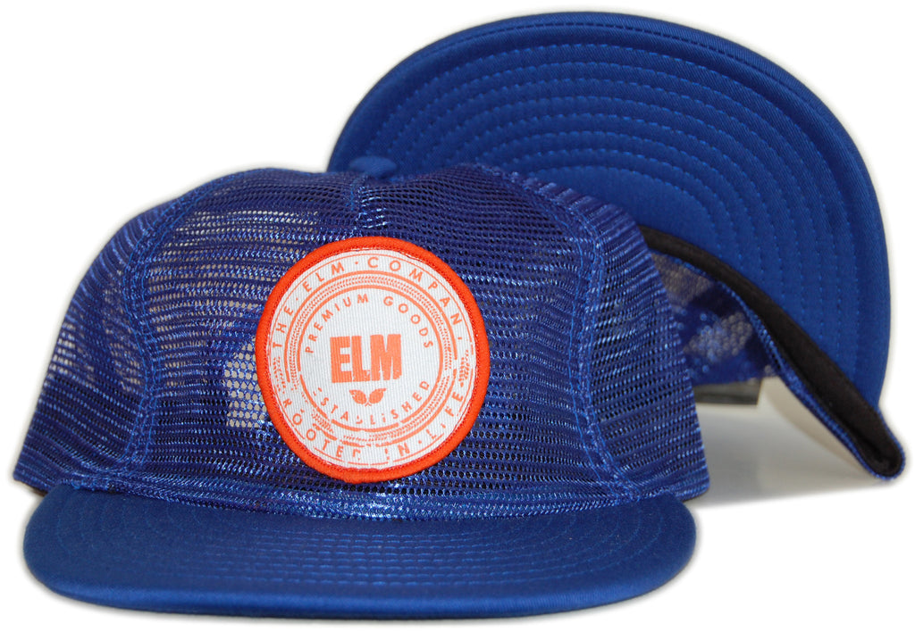 <!--020120501044114-->Elm - 'Premium Seal Trucker' [(Blue) Snap Back Hat]