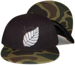 <!--020130416055858-->Elm - 'Leaf - Camo' [(Black) Snap Back Hat]