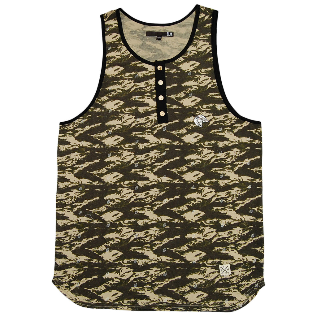 <!--2013041620-->Elm - 'Draft Henley' [(Camo Pattern) Tank Top]