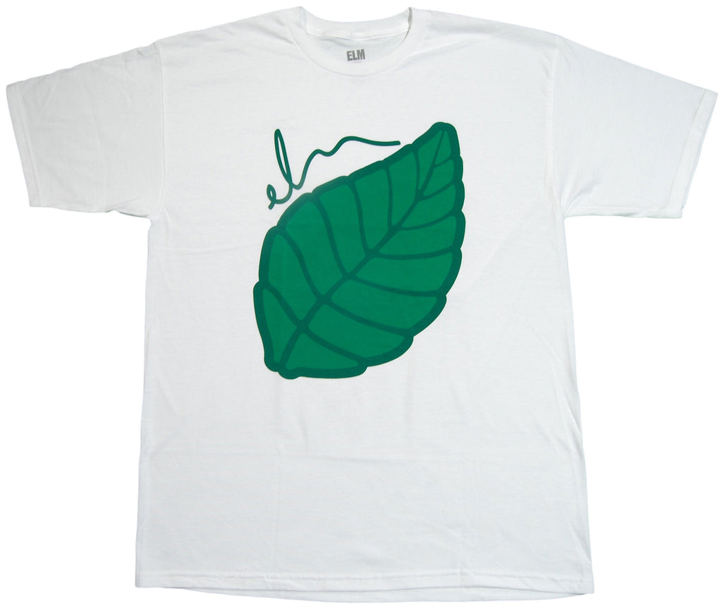 <!--2012111353-->Elm - 'Leaf - White/ Green' [(White) T-Shirt]