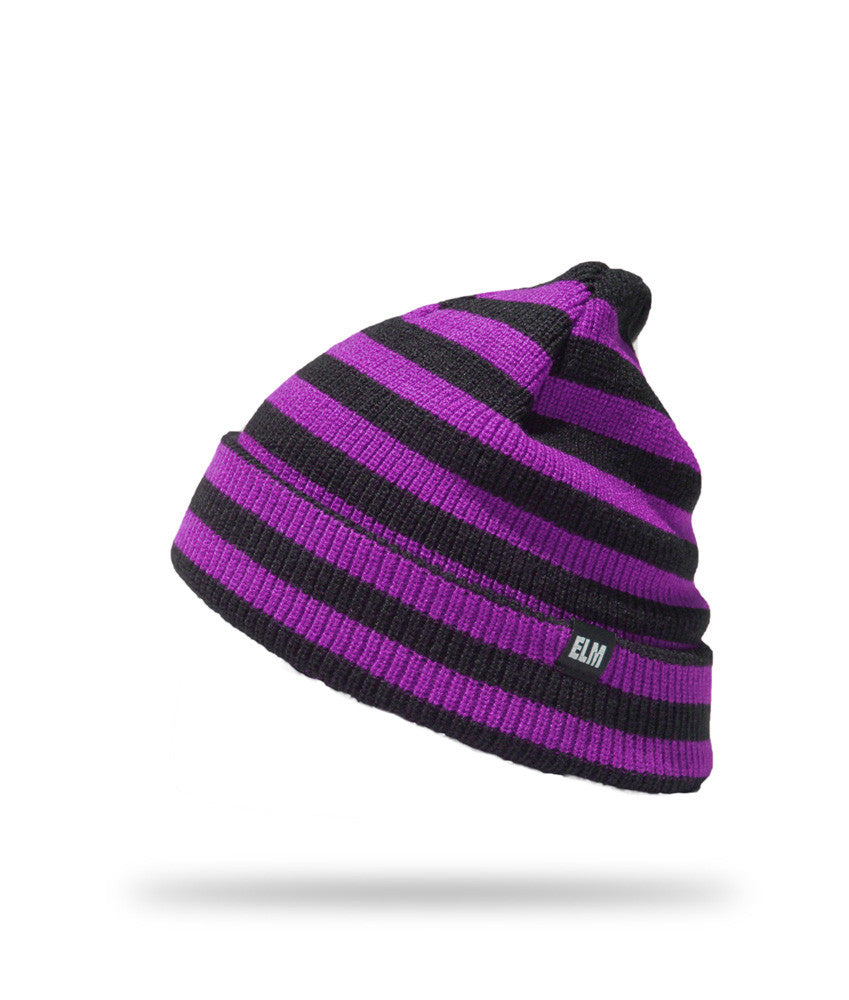 <!--020121113051730-->Elm - 'Striped Standard' [(Purple) Winter Beanie Hat]