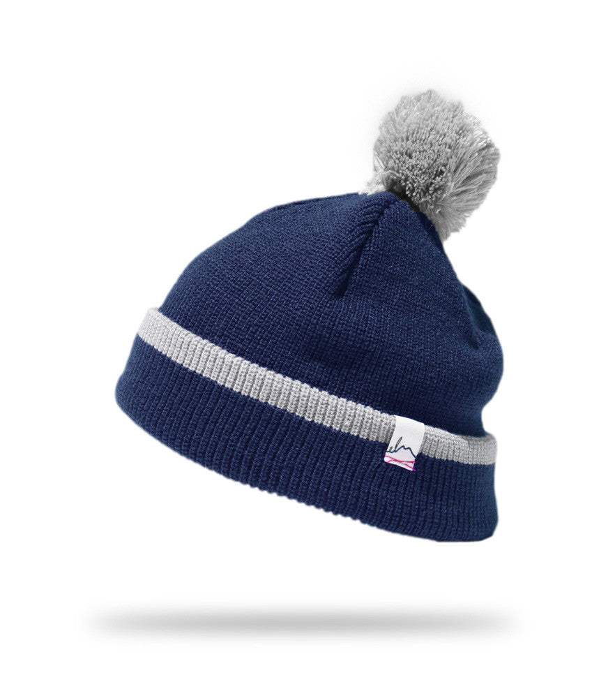 <!--020121113051753-->Elm - 'Pom Pom Standard' [(Dark Blue) Winter Beanie Hat]