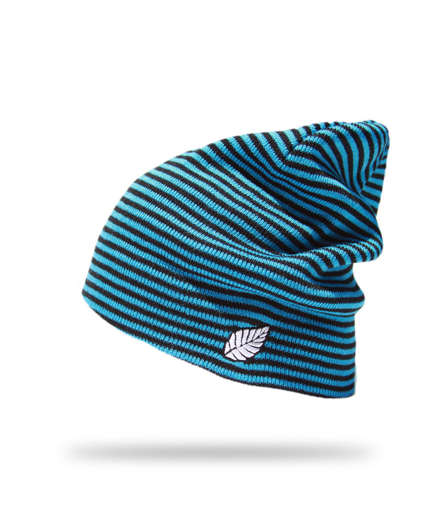 <!--020121113051731-->Elm - 'Striped Reservoir' [(Light Blue) Winter Beanie Hat]
