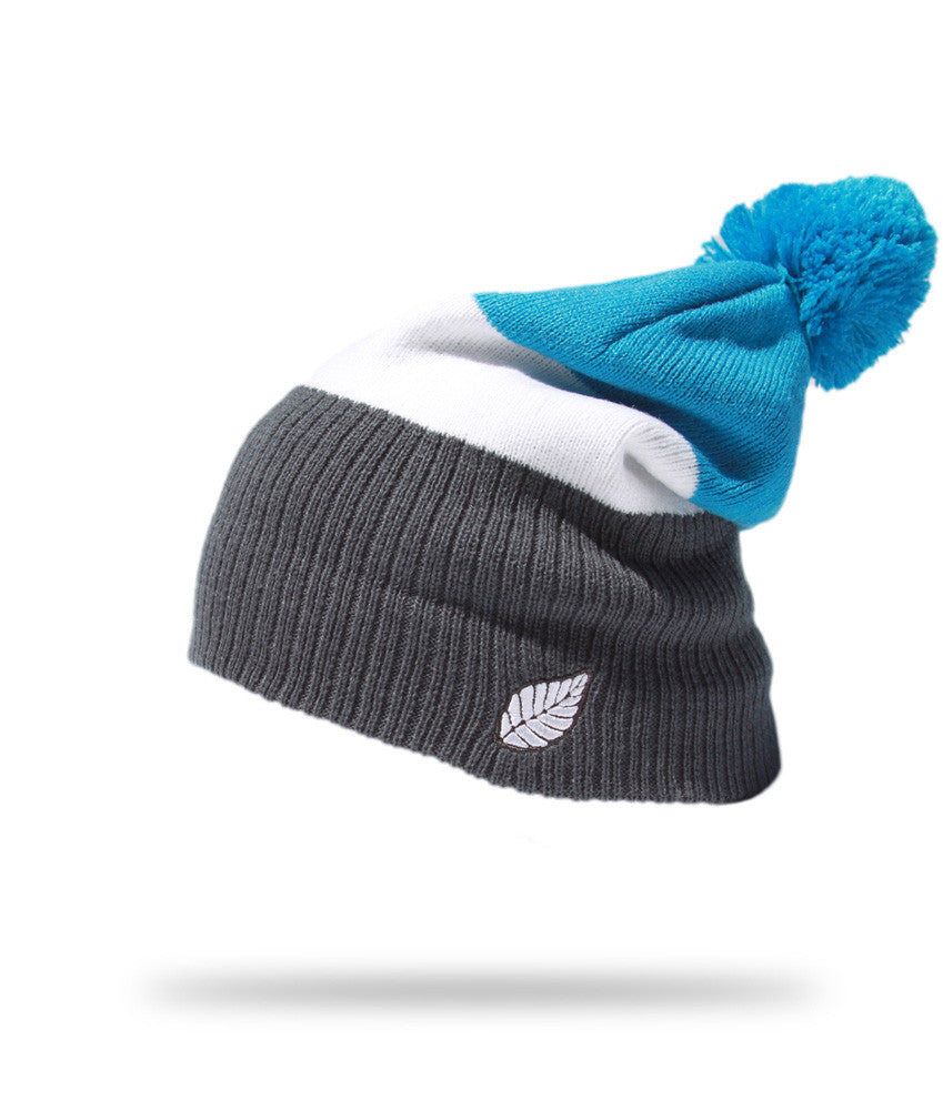 <!--020121113051785-->Elm - 'Breaker - Black/ Cyan' [(Light Blue) Winter Beanie Hat]