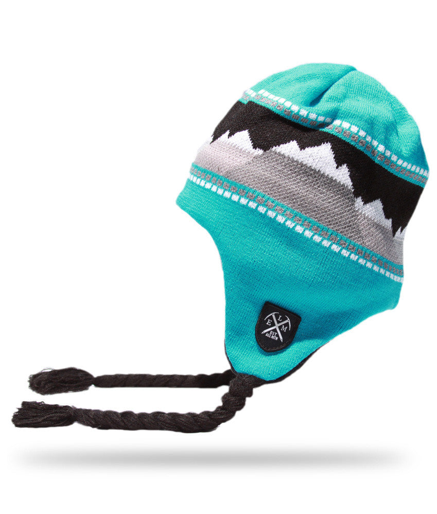 <!--020121113051764-->Elm - 'Landscape Earflap' [(Light Blue) Winter Beanie Hat]