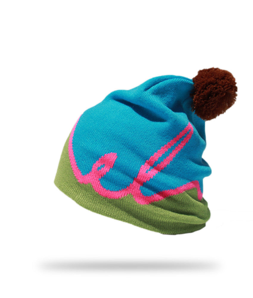 <!--020121113051745-->Elm - 'Script' [(Light Blue) Winter Beanie Hat]