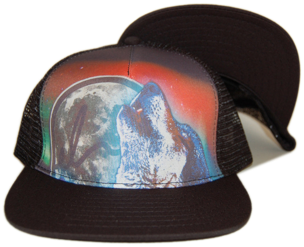 <!--020121113051794-->Elm - 'Wolf Pack Trucker' [(Black) Snap Back Hat]