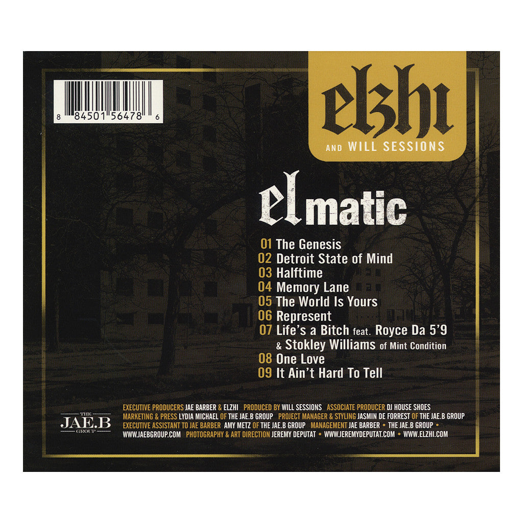 Elzhi & Will Sessions - 'Elmatic (Re-Issue)' [CD]
