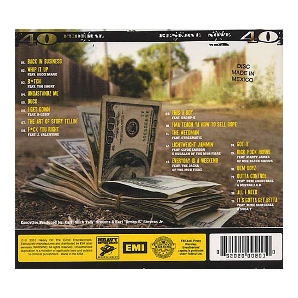 <!--120100330020661-->E-40 - 'Revenue Retrievin': Day Shift' [CD]