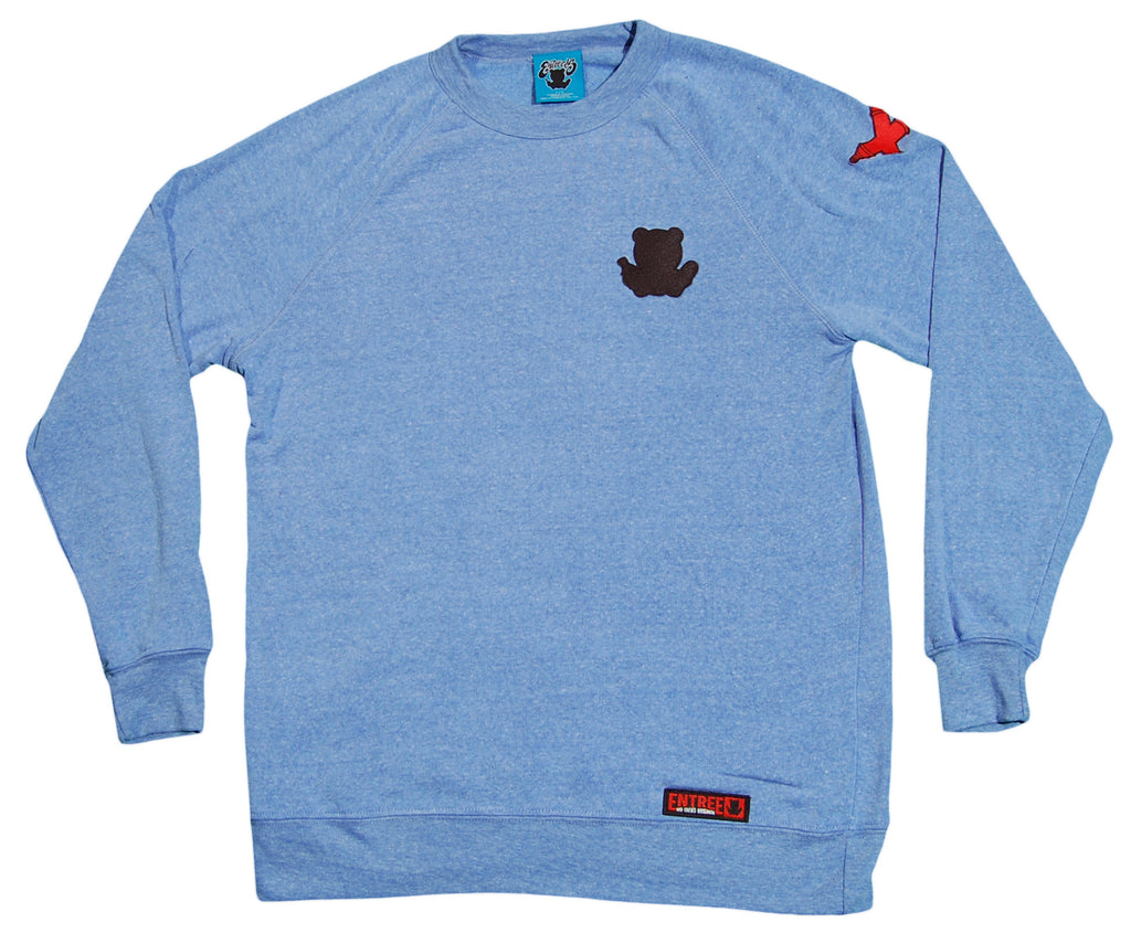 <!--2012090411-->Entree - 'Black Silhouette Patch' [(Light Blue) Crewneck Sweatshirt]