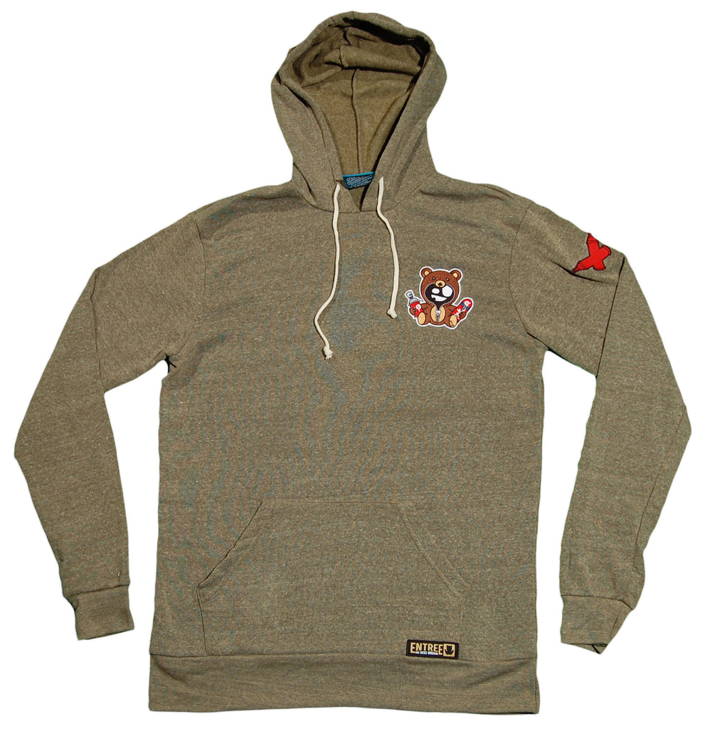 <!--2012090432-->Entree - 'Teddy Patch' [(Dark Green) Hooded Sweatshirt]