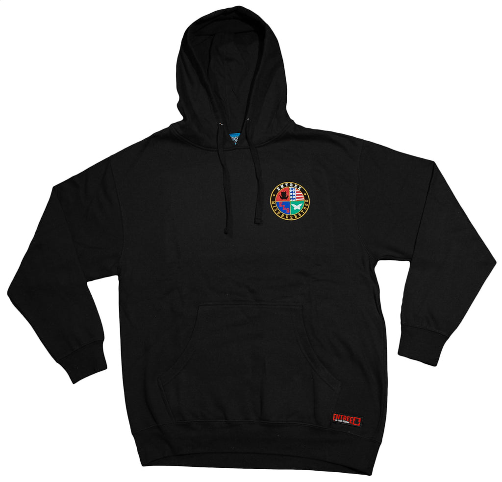 <!--2012103024-->Entree - 'Preppy Logo' [(Black) Hooded Sweatshirt]