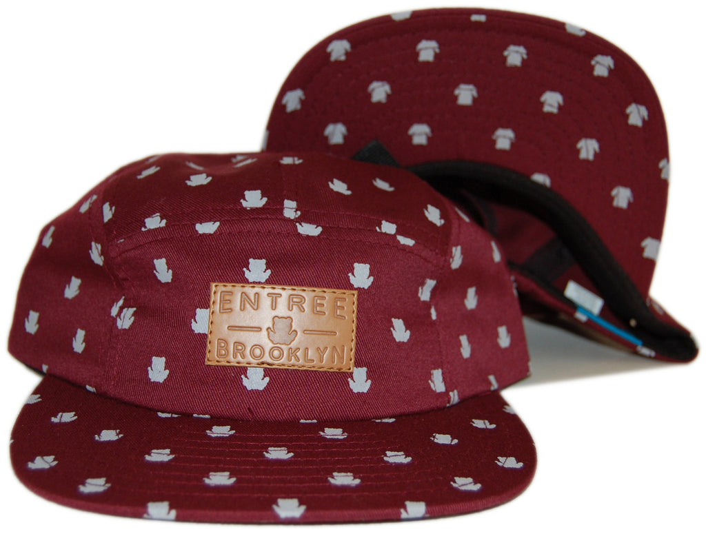 <!--020121030051049-->Entree - 'Brooklyn All-Over' [(Dark Red) Five Panel Camper Hat]