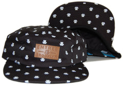 <!--020121030051050-->Entree - 'Brooklyn All-Over' [(Black) Five Panel Camper Hat]