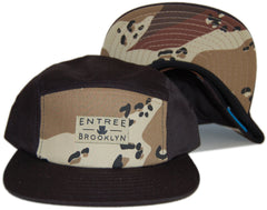 <!--020121030051051-->Entree - 'Brooklyn - Desert Storm' [(Black) Five Panel Camper Hat]