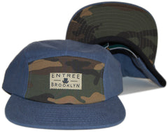 <!--020121030051052-->Entree - 'Brooklyn - Camo' [(Light Blue) Five Panel Camper Hat]