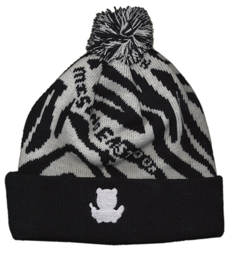 <!--020121030051039-->Entree - 'Zebra' [(Black) Winter Beanie Hat]