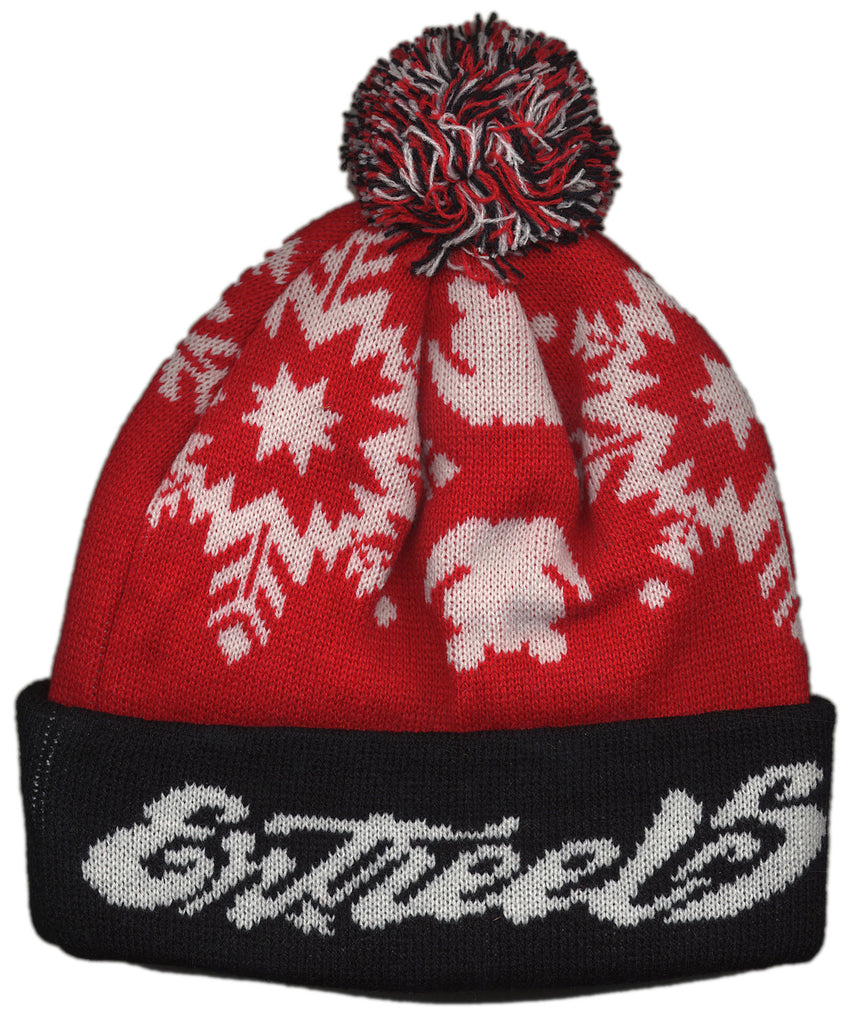 <!--020121030051040-->Entree - 'Snowflakes' [(Red) Winter Beanie Hat]
