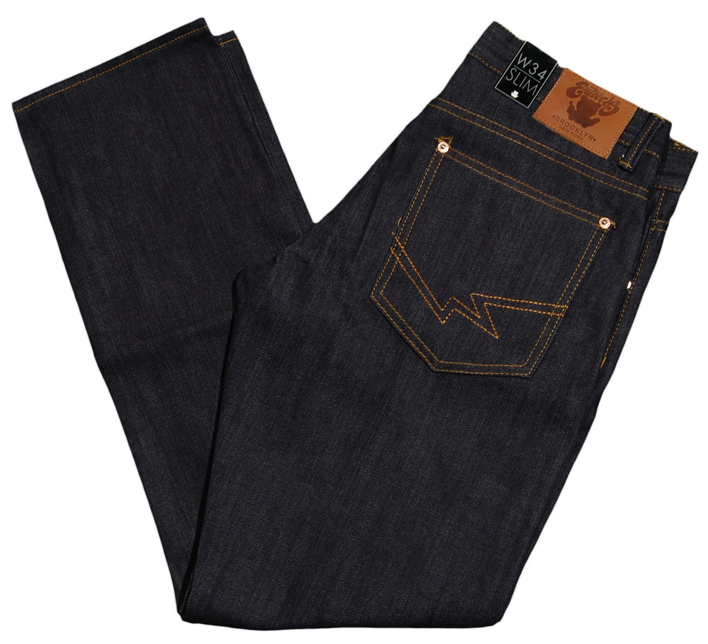 <!--2012103016-->Entree - 'Slim Chuck Selvedge' [(Dark Blue) Jeans]