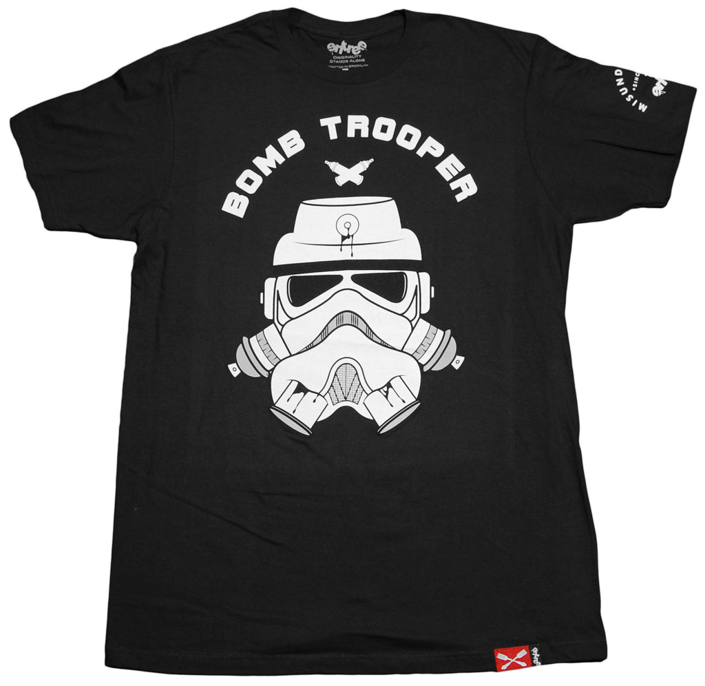 <!--2011121349-->Entree - 'Bomb Trooper' [(Black) T-Shirt]
