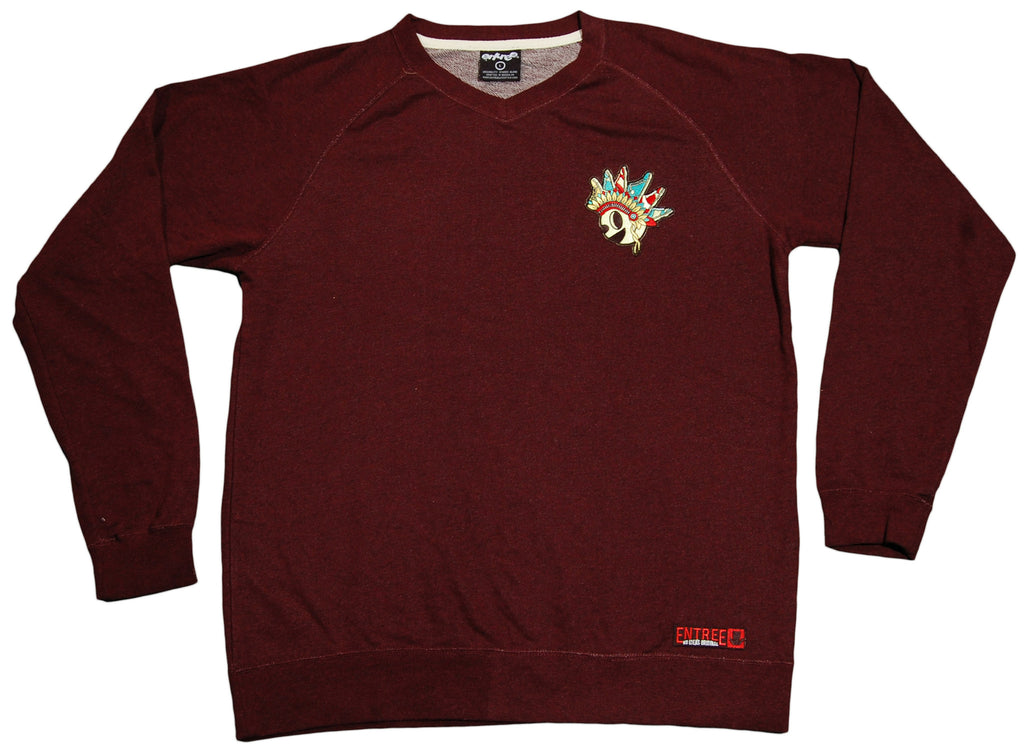 <!--2011121358-->Entree - 'Sneaker Chief V-Neck' [(Dark Red) Sweater]
