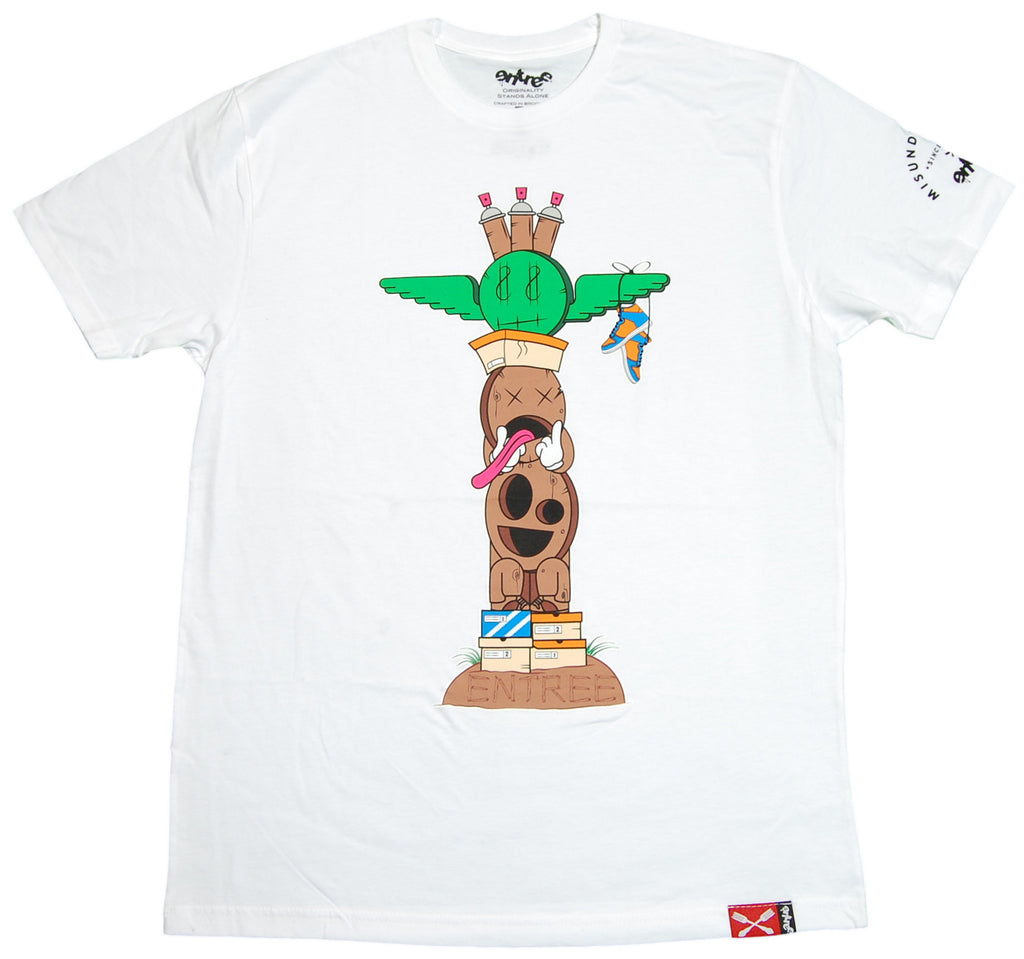 <!--2011121301-->Entree - 'Totem Pole' [(White) T-Shirt]