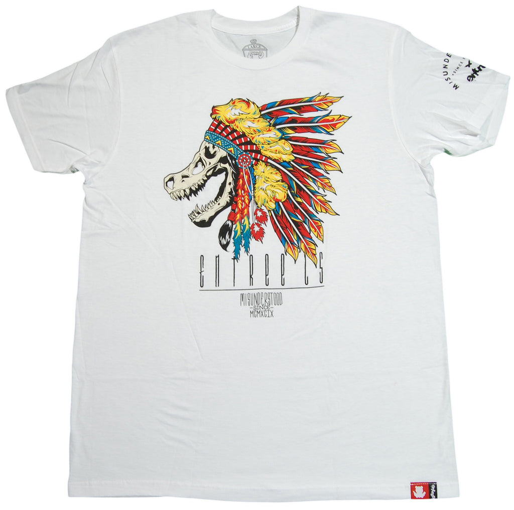 <!--2012120451-->Entree - 'T-Rex Chief' [(White) T-Shirt]
