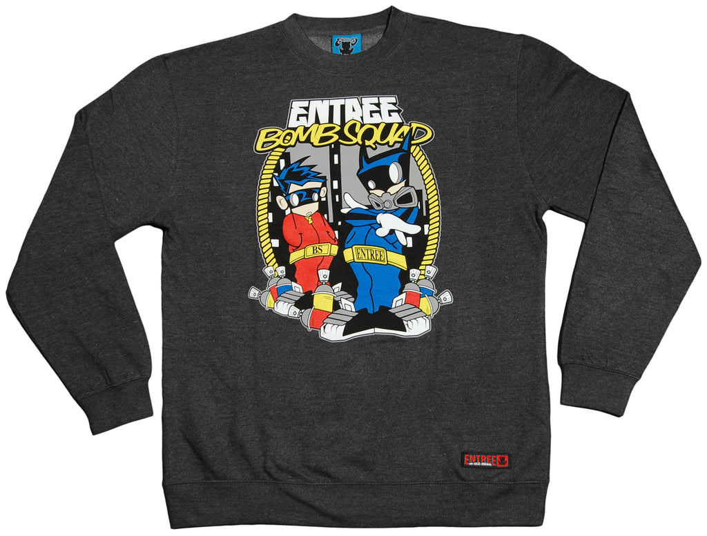 <!--2012020728-->Entree - 'The Original Bomb Squad' [(Dark Gray) Crewneck Sweatshirt]