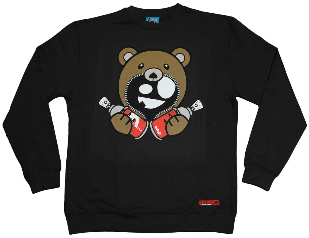 <!--2012020751-->Entree - 'Teddy Double Spray Can' [(Black) Crewneck Sweatshirt]