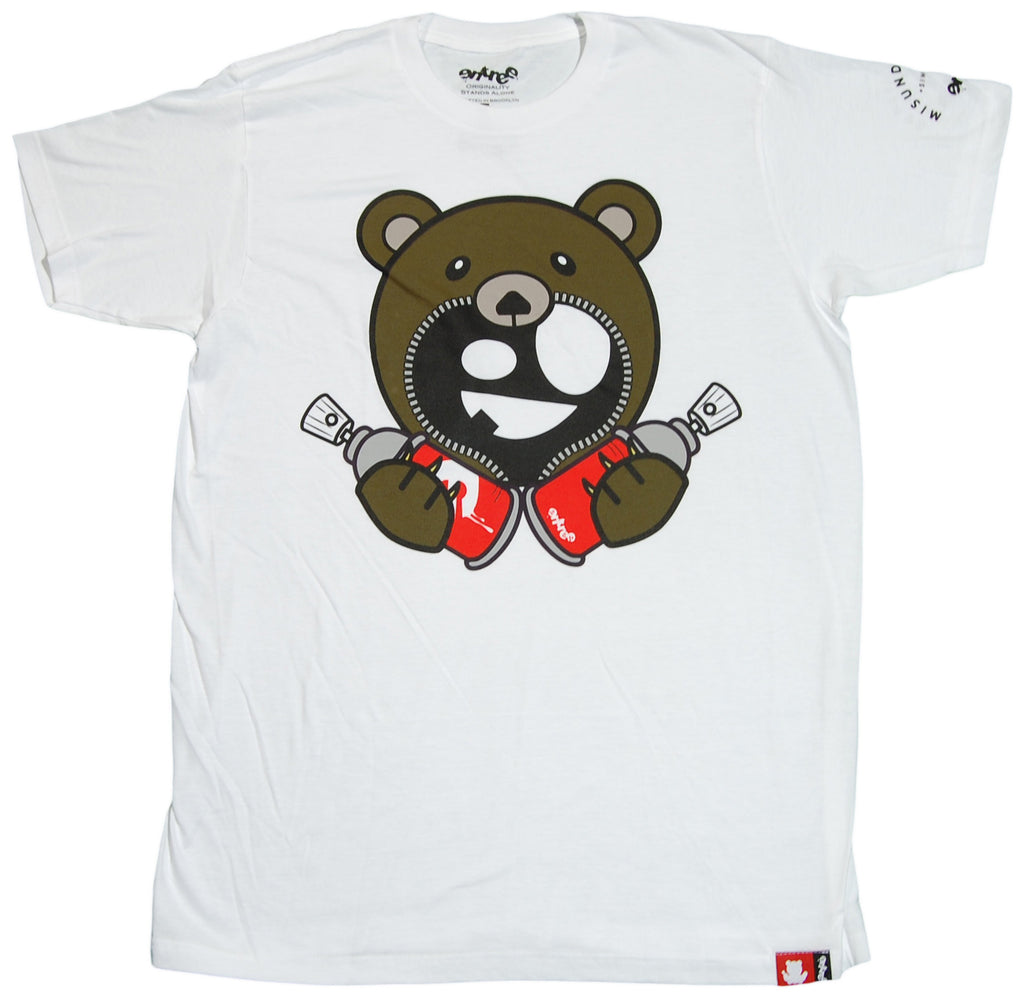 <!--2012020747-->Entree - 'Teddy Double Spray Can' [(White) T-Shirt]
