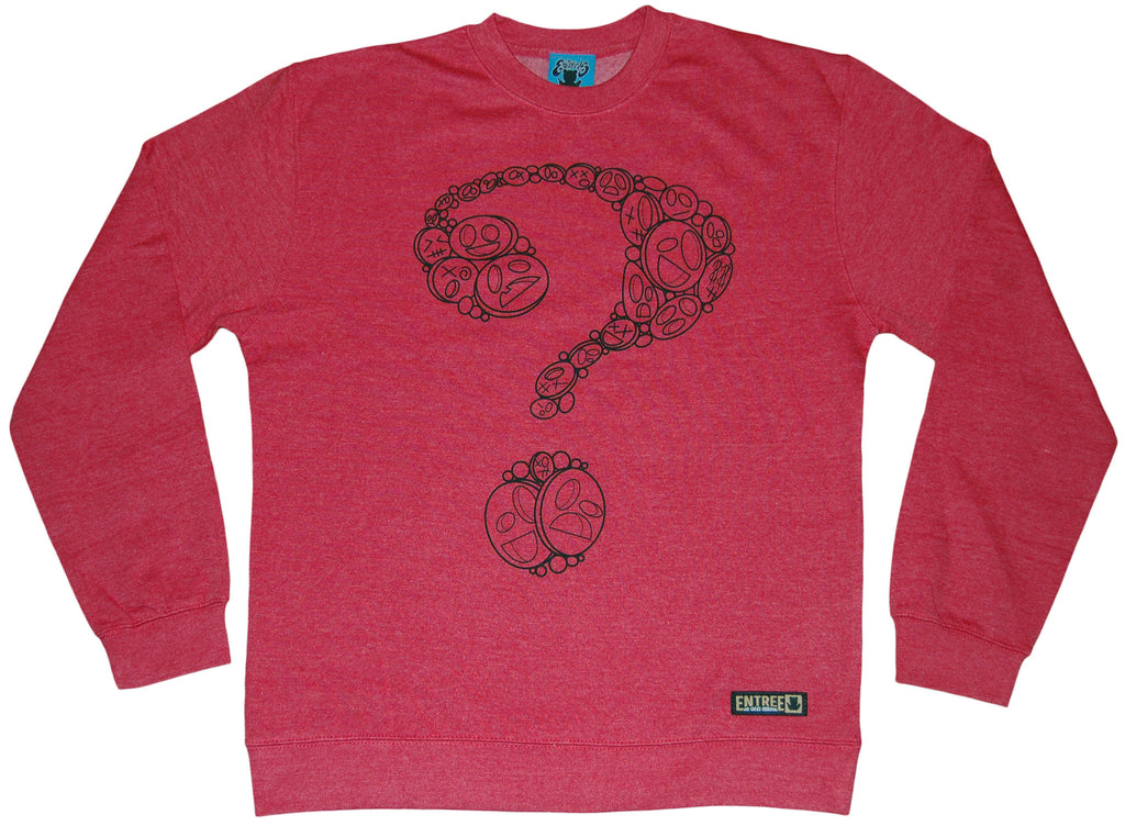 <!--2012020726-->Entree - 'Unknown Question' [(Red) Crewneck Sweatshirt]