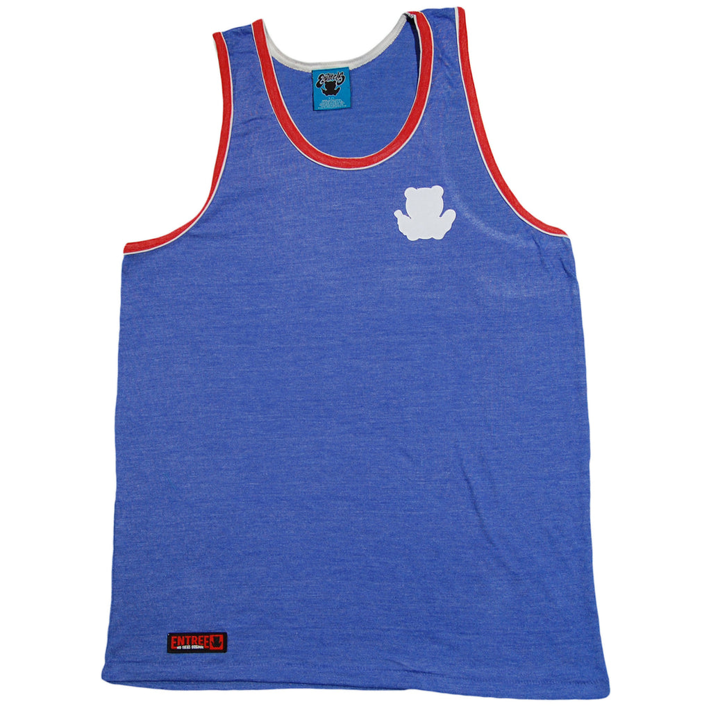 Entree - 'Double Contrast Ribbed' [(Blue) Tank Top]