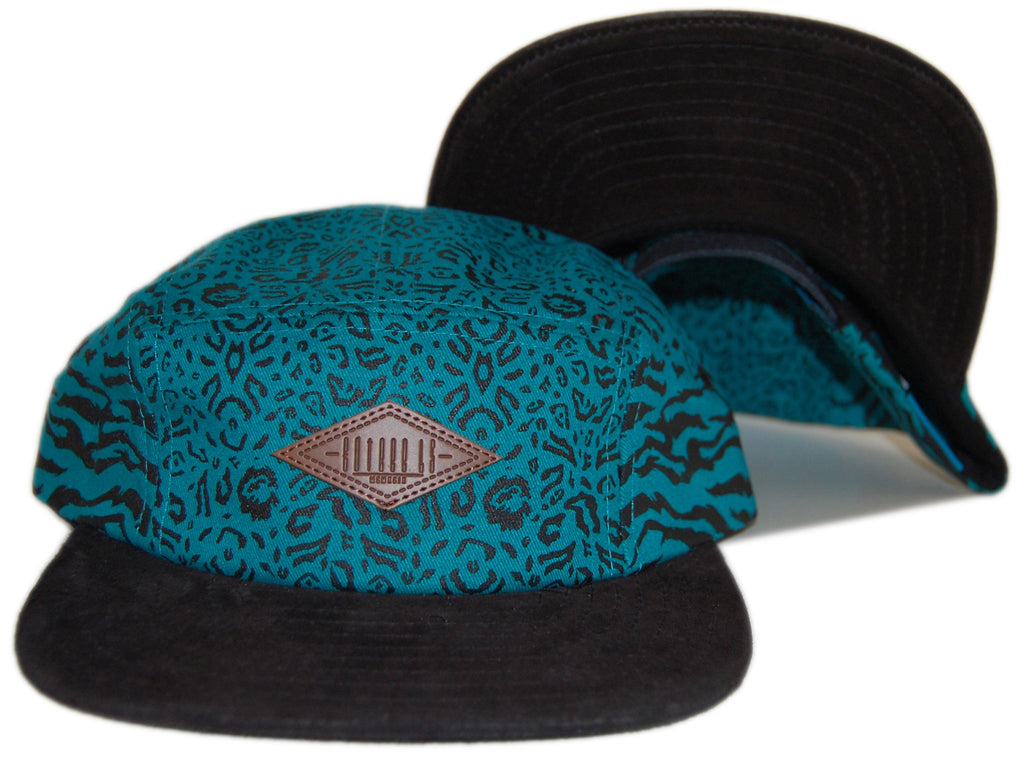 <!--020130129053649-->Entree - 'Leopard Tiger' [(Light Blue) Five Panel Camper Hat]