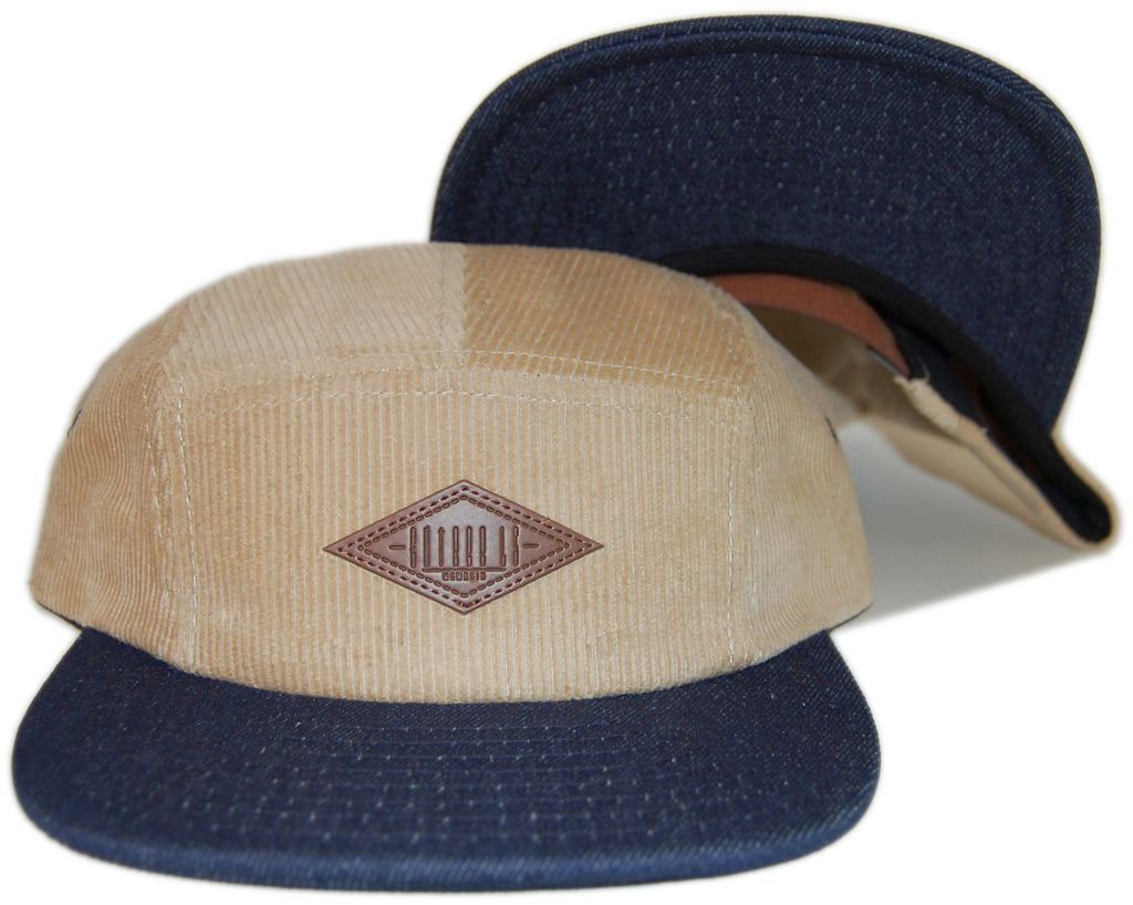 <!--020130507056407-->Entree - 'Khaki Corduroy' [(Light Brown) Five Panel Camper Hat]