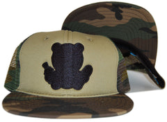 <!--2012052222-->Entree - 'Mesh Trucker' [(Camo Pattern) Snap Back Hat]
